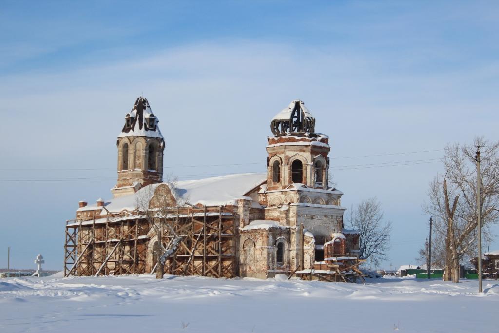 Зимний день 2013 - Храм в честь Живоначальной Троицы, село Кособродка